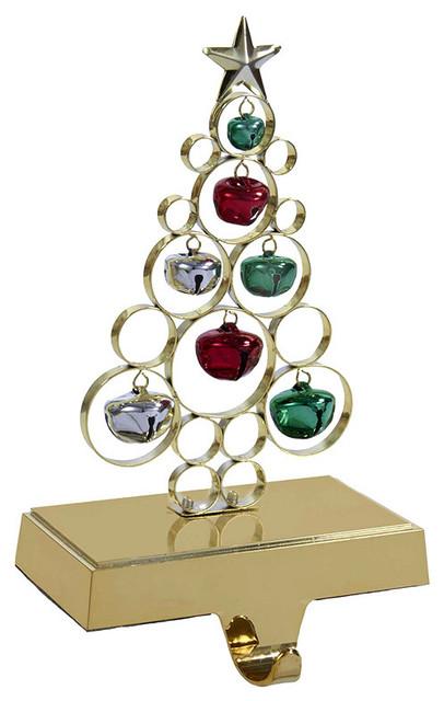 Kurt adler quot gold metal tree stocking holder christmas