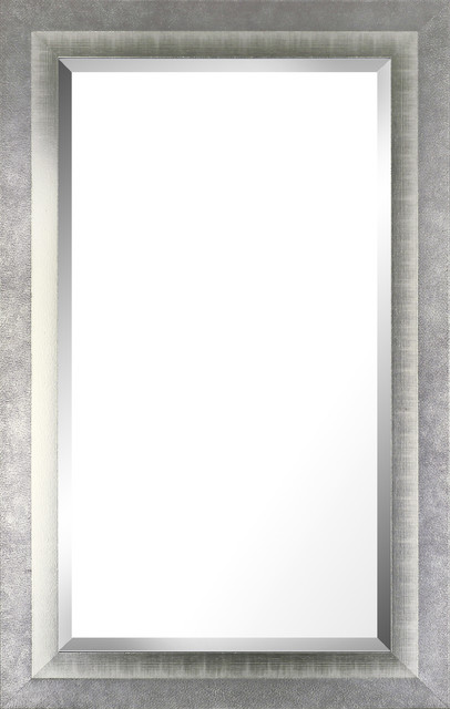 26 5 X42 5 Silver Accent Wood Wall Mirror Transitional Wall Mirrors By Artmaison Canada