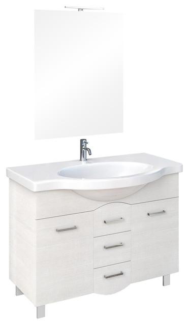 Venus 4-Piece Opaque White Bathroom Vanity Set, 85 cm