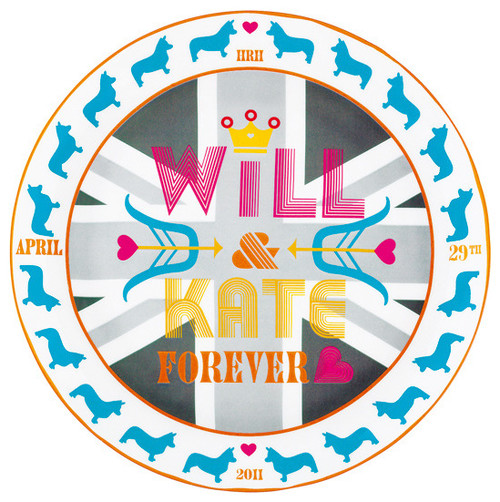 Will & Kate Forever by Jonathan Adler  dinnerware