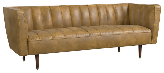 Hide Sofa, Olive Green Leather.