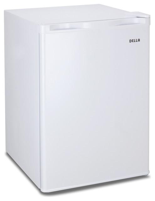 2.6 Cu. Ft. Mini Refrigerator Freezer Compact Cooler Dorm, White.