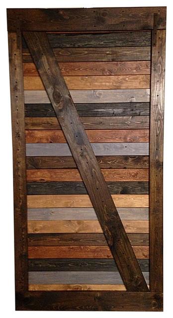 handmade barn door multicolor rustic interior doors - Rustic Wood Interior Doors
