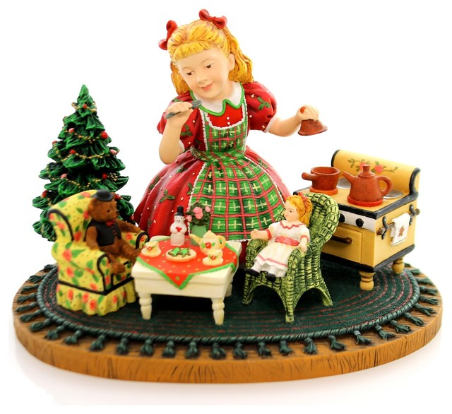 Christmas Muffy S Tea Party Polyresin Artist Proof Kinder Christmas 13719 Contemporary Holiday Accents And Figurines By Story Book Kids Inc Houzz