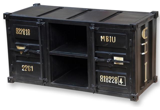 Meuble style container – Table de lit a roulettes -> Meuble Container