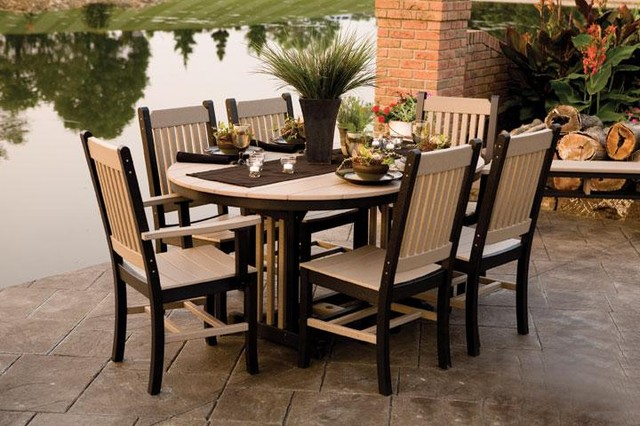 mission polywood outdoor dining set traditional