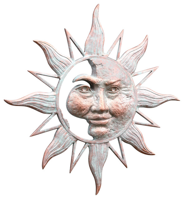 Half Face Sun Wall Plaque