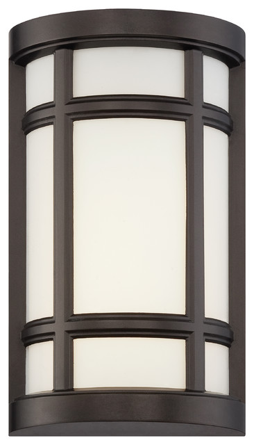 Logan Square Led Wall Sconce, Burnished Bronze.