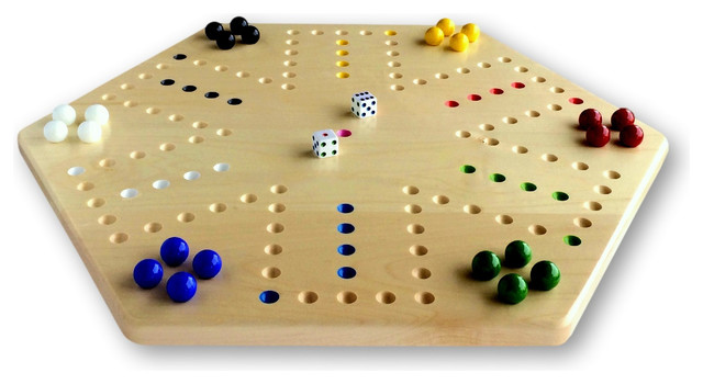 Hand-Painted Wooden Aggravation Game Board, Double-Sided, 20