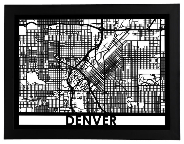 Denver Street Map - Contemporary - Prints And Posters - by Cut Maps