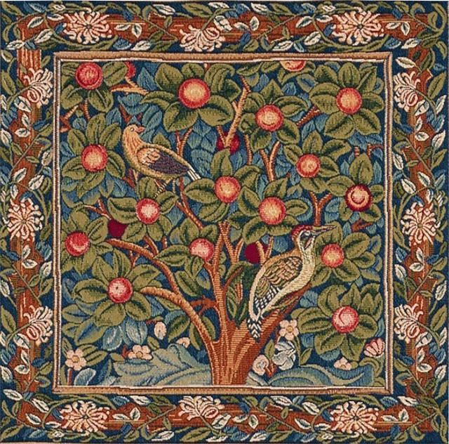 Woodpecker European Cushion Wall Tapestry ...  sc 1 st  Houzz & Woodpecker European Cushion Wall Tapestry 19