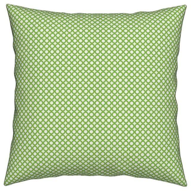 Amazing Green Dot Dots Circle Geometric Polka Dots Throw Pillow Linen Cotton Machost Co Dining Chair Design Ideas Machostcouk