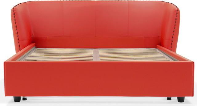 Vitali Microfiber Leather Bed, King.