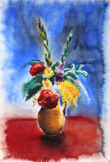 Eve Nethercott, Flowers, P6.48, Watercolor Painting.