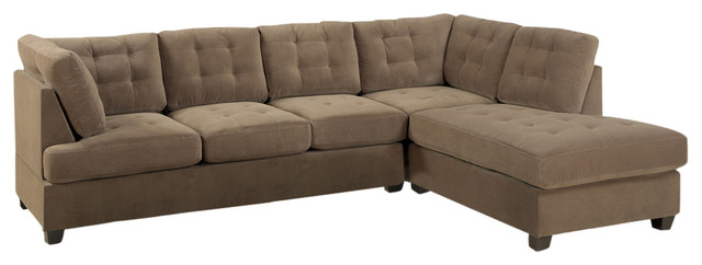 Odessa waffle suede reversible sectional sofa brown for Odessa waffle suede reversible sectional sofa with ottoman