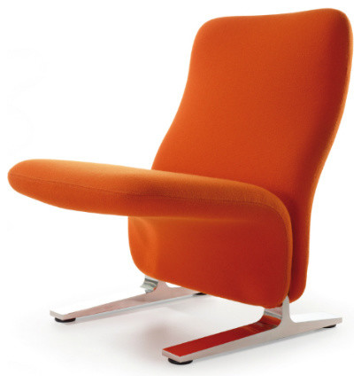 Artifort Concorde Chair By Pierre Paulin, Tonus Orange, Low Back  Armchairs And
