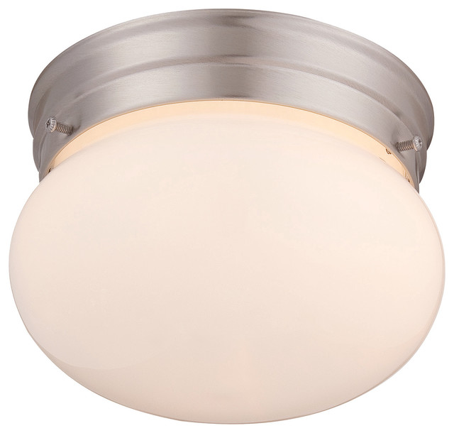 Flush Mount, Satin Nickel