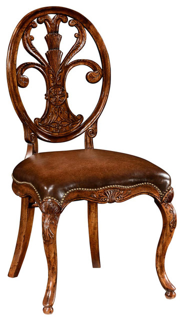 jonathan charles sheraton style oval back chair leather seat