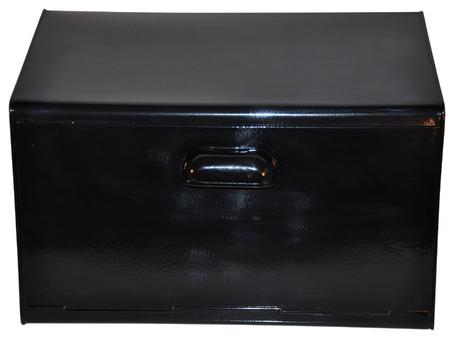 Oldschool Steel Bread Bin, Black