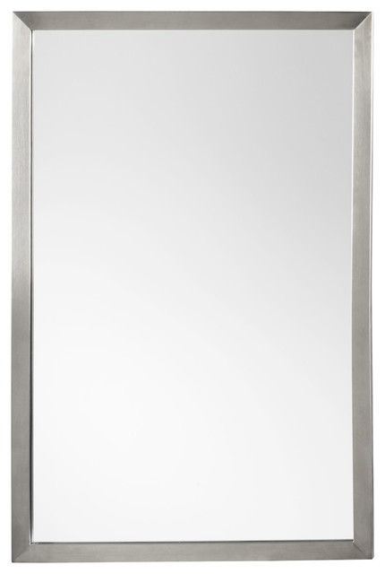 Ronbow contemporary metal framed bathroom mirror brushed Bathroom wall mirrors brushed nickel