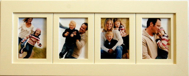 Collage Picture Frame 4 Opening Ivory Frame 5x7 Transitional