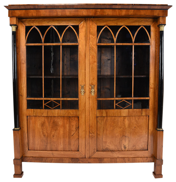 consigned 19th century french empire style bookcase or