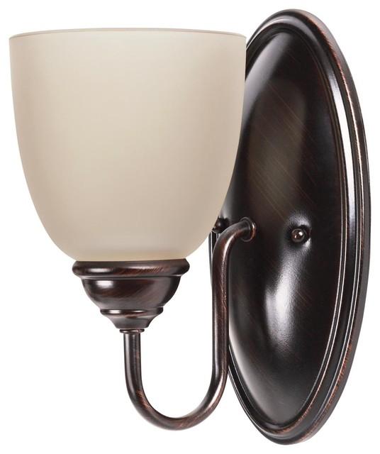 Sea Gull Lighting Bayfield 3-Light Reversible Bathroom Vanity Light Burnt Sienna