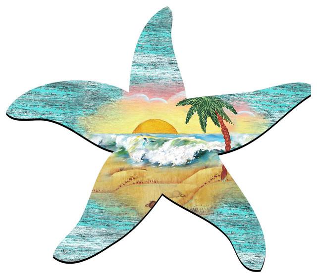 Starfish Scenic Ornament, Set Of 3