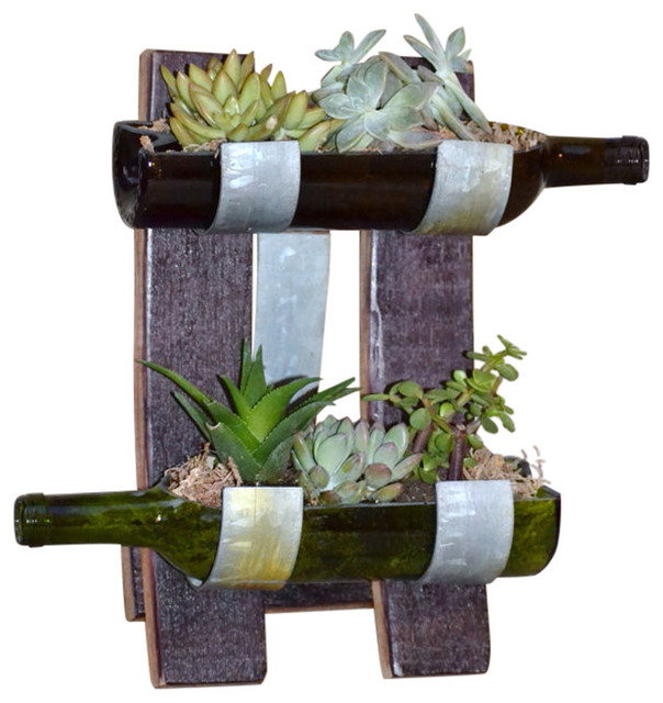 Table Top Garden Succulent Display Rustic Outdoor Pots And