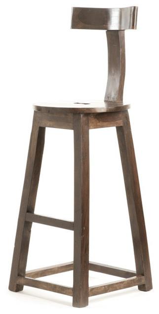 Go Home 30 Rustic Wooden Bar Stool 9197