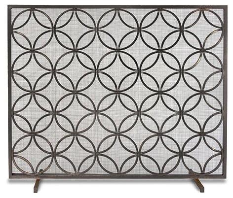 Single Panel Bedford Screen, Matte Black.