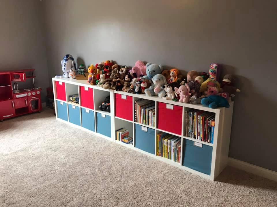 playroom cube organization
