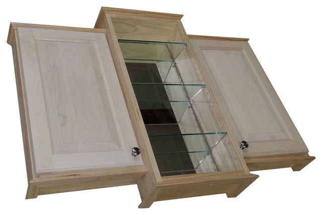 """... On-the-Wall Bath Cabinet, Unfinished, 4"""" farmhouse-medicine-cabinets"""