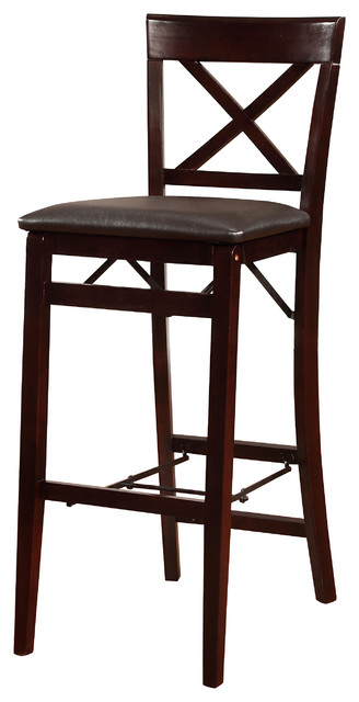 Triena X Back Folding Counter Stool Transitional Bar Stools And
