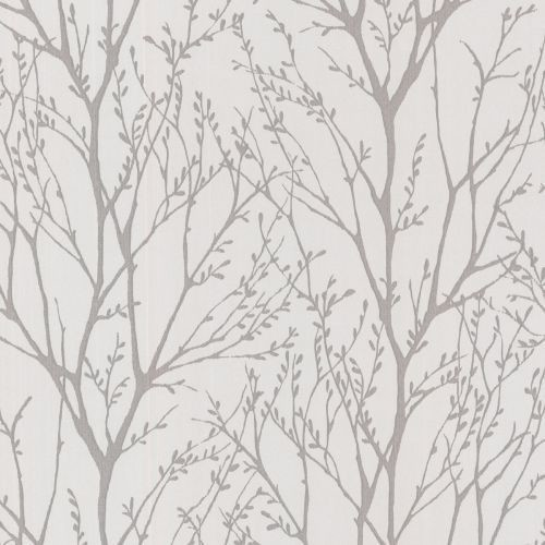 Brewster 2532-20426 Delamere Pewter Tree Branches Wallpaper.