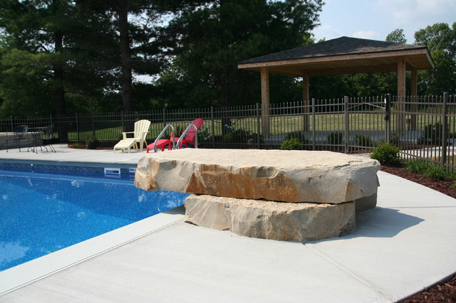Jump rock milwaukee by swimming pool services for Repurpose inground swimming pool