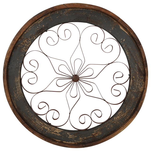Round Architectural Window Chateau, Slate Gray