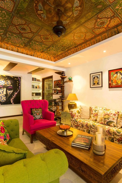 Artistic Living Indian Living Room Mumbai By The Orange Lane