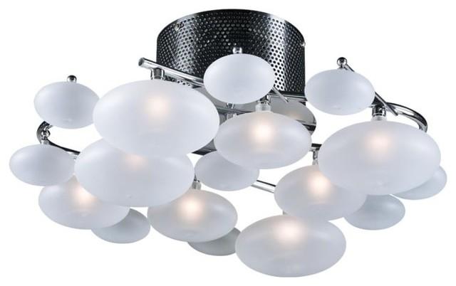 Plc Lighting 96944 Comolus 8 Light 19 Semi Flush Ceiling Fixture.