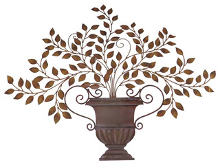 Classic Olive Leaf Urn Wall Art, Mediterranean Plaque Tuscan Greek ...
