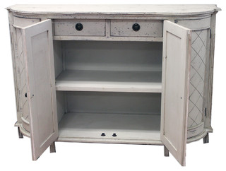 Syracuse Buffet, Carved Antique Wash