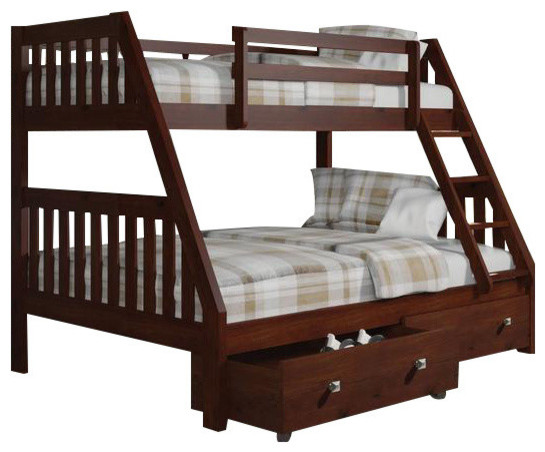 Full Twin Bunk Bed With Storage.