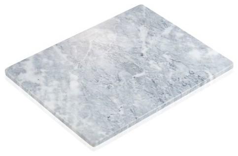 Artland White and Gray Marble 15 x 11 Inch Rectangular Platter