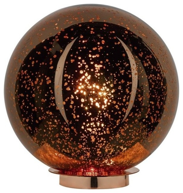 Mottled Copper Table Lamp