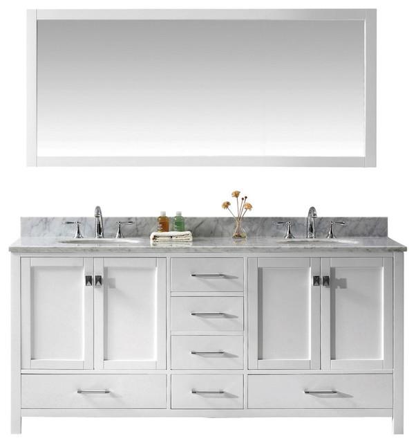 Caroline Avenue 72 Double Vanity Transitional Bathroom Vanities And Sink Consoles By Virtu Usa