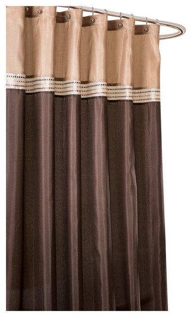 Terra Shower Curtain Beige And Brown
