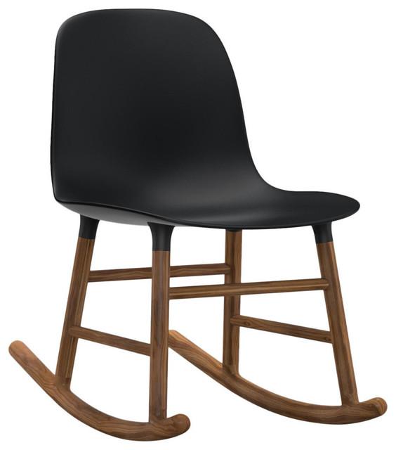 Form Rocking Chair, Black, Walnut