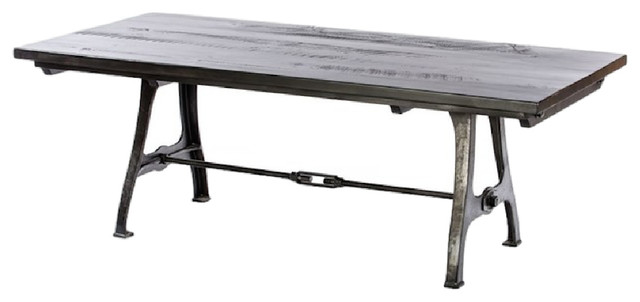 Industrial Rhode Island Leg Table With Turnbuckle  : industrial dining tables from www.houzz.com size 640 x 302 jpeg 26kB