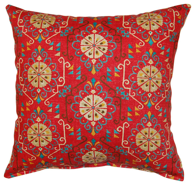 Summer Rain Knife Edge Pillow, Adobe, Gem.