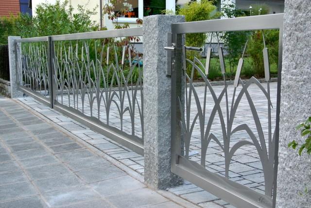 Stainless steel driveway gates edelstahl einfahrtstore for Stainless steel driveway gates designs